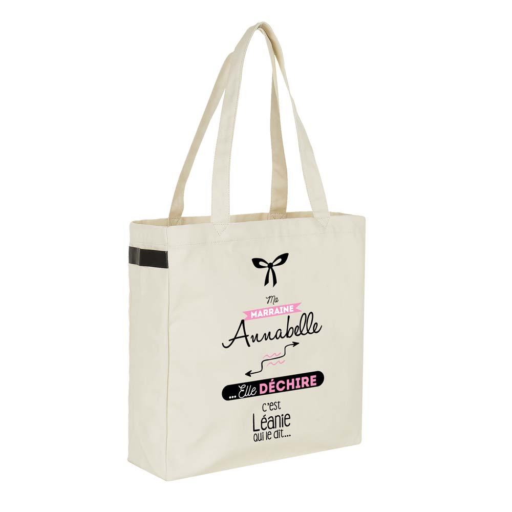 Déchire Sac Cadeau Marraine Elle Jolisacs Shopping Personnalisé Ma gyYfb76