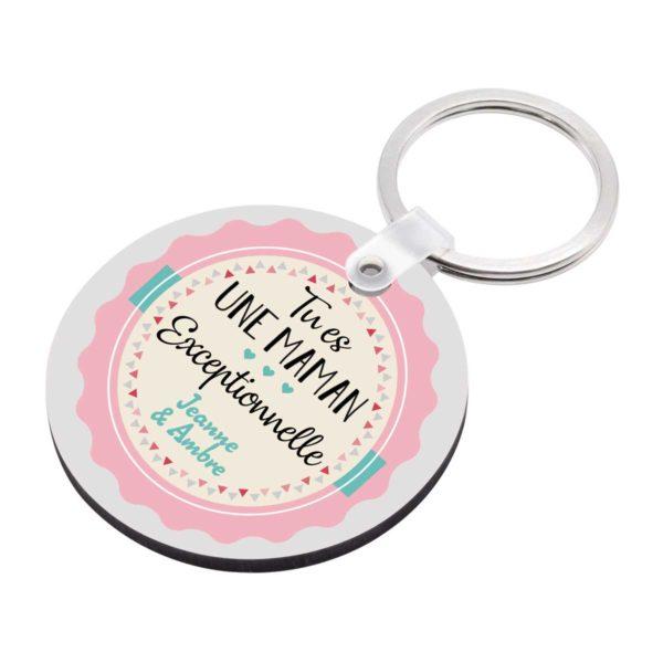Porte clé à personnaliser avec prénoms tu es une maman exceptionnelle