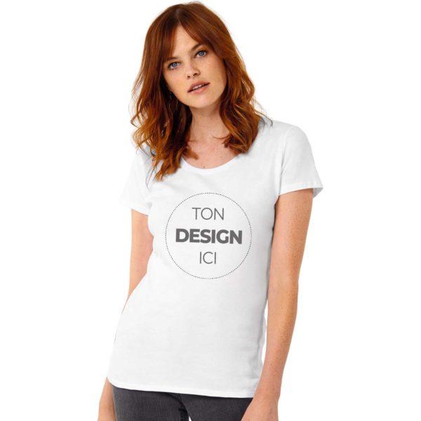 Tee shirt à personnaliser coupe femme col rond - Légèrement cintré