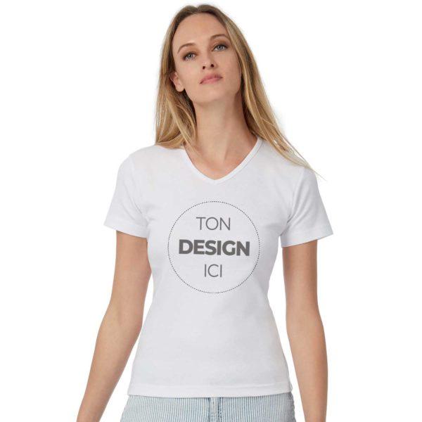 Tee shirt à personnaliser coupe femme col V cintré