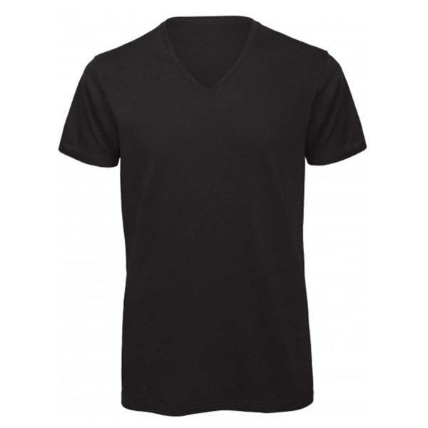 Tee shirt à personnaliser noir homme col V