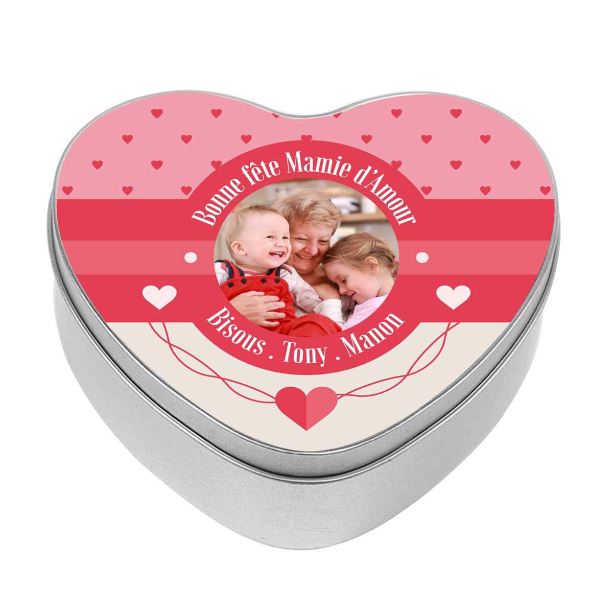 Personnalisé Doux-Breloque Boîte de Cadeau-maman-Fête Mères-Amour Coeur-Unique