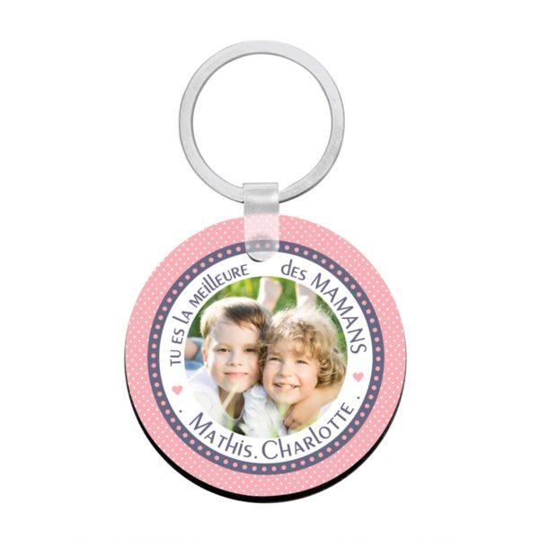 Cadeau maman. Porte clé à personnaliser avec prénoms meilleure maman