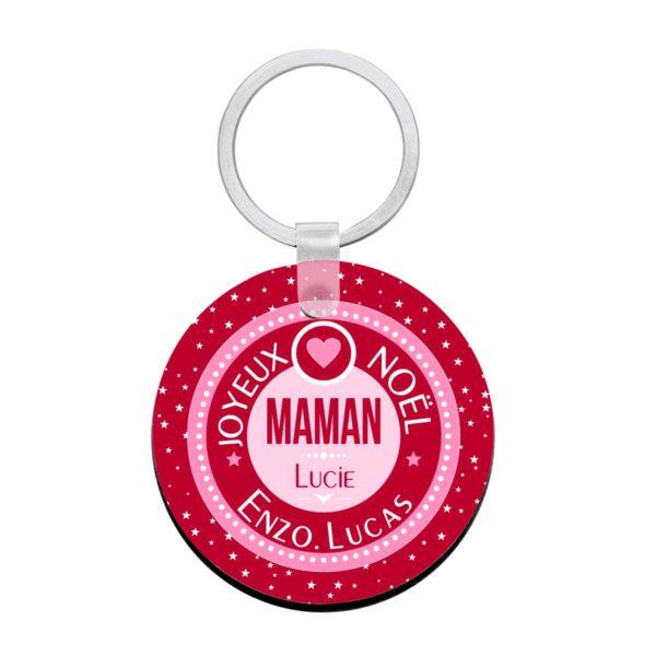 Cadeau noël maman. Porte clé à personnaliser maman et prénoms