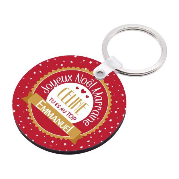 Cadeau noël marraine. Porte clé à personnaliser marraine et prénom