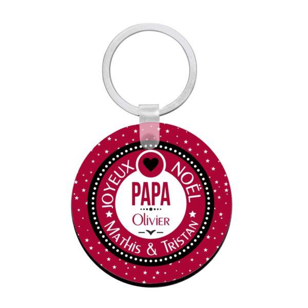 Cadeau noël papa. Porte clé à personnaliser papa et prénoms