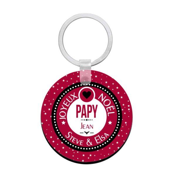Cadeau noël papy. Porte clé à personnaliser papy et prénoms