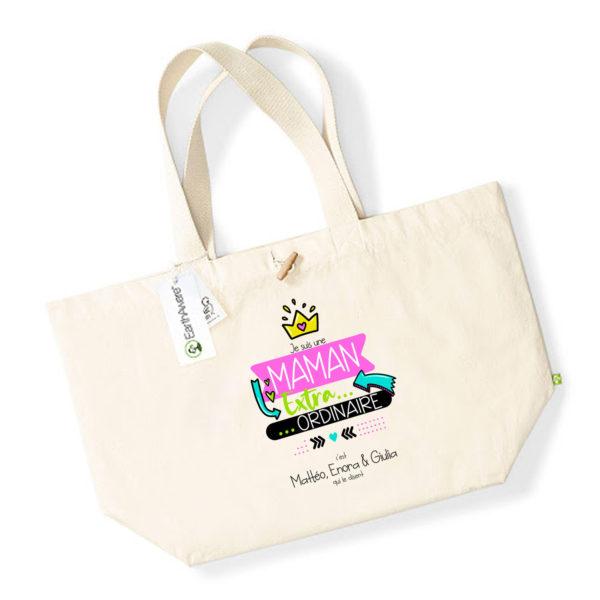 Idée cadeau maman - Sac shopping personnalisé maman est extraordinaire
