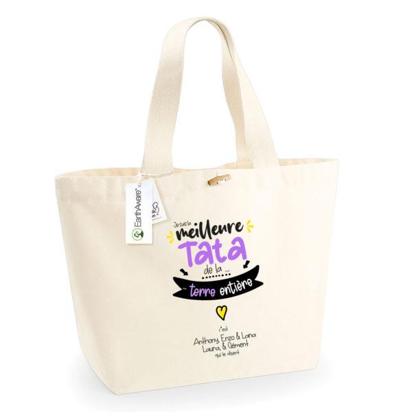 Idée cadeau tata - Sac shopping personnalisé tu es la meilleure tata